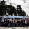 El presidente del Gobierno en funciones y del PP, Mariano Rajoy,c., en los Jardines de Cecilio Rodríguez en Madrid donde tuvo lugar el acto de presentación de los cabezas de lista del Partido Popular en las elecciones generales del 26 de junio.