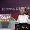 El secretario de Organización de Podemos, Pablo Echenique, durante su comparecencia posterior a la reunión que el Consejo de Coordinación del partido ha celebrado hoy para analizar los resultados electorales.