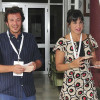 La secretaria general de Podemos en Andalucía, Teresa Rodríguez, junto a su pareja, el alcalde de Cádiz, José María González, a su llegada en el colegio electoral de la capital gaditana donde votaron el pasado domingo.