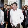 El presidente filipino, Rodrigo Duterte, asiste a una cumbre.