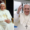 En 2006, el papa Benedicto XVI (izquierda) dijo lo que ningún papa se había atrevido a decir: que hay un vínculo entre la violencia y el islam. Diez años más tarde, el papa Francisco (derecha) jamás llama por su nombre a los responsables de la violencia anticristiana y jamás pronuncia la palabra 'islam'.
