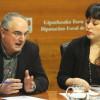 Xabier Olano y Larraitz Ugarte, de EH Bildu (foto Deia)