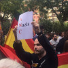 Manifestación contra el separatismo frente a la sede de la ANC