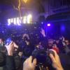 Uno de los momentos de tensión entre policía y manifestantes