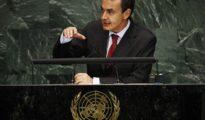 El Presidente Zapatero durante la la Asamblea General de la ONU