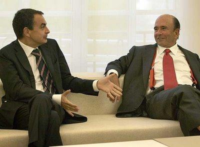 Zapatero y Botín