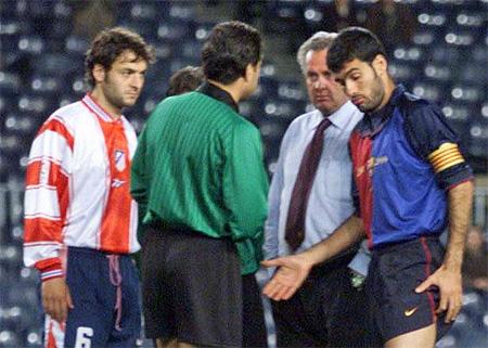 Imagen retrospectiva de Guardiola negándose a disputar un partido de Copa del Rey frente al Atléti.