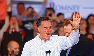 El aspirante republicano, Mitt Romney.