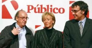 Roures, con De la Vega y Tatxo Benet.