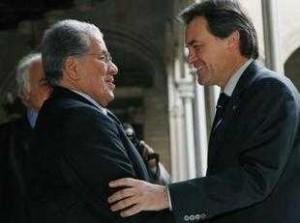 Artur Mas con Mohamed El Yazgui, ministro de Estado marroquí.