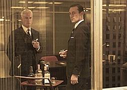 John Slattery y Jon Hamm, dos de los actores de la famosa serie