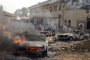 Atentado con coche-bomba contra una iglesia en Nigeria.