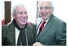 Enrique Bohórquez (i) y Juan José Imbroda (d), mucho más que amigos.