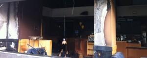 Una cafetería fue quemada por los filoterroristas de la izquierda catalana.