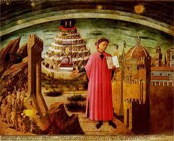 Dante y el universo de la «Divina Comedia» representados por Domenico di Michelino en la catedral de Florencia