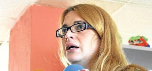 a presidenta de la Fegaib encarcelada ayer, Amantine N.G.