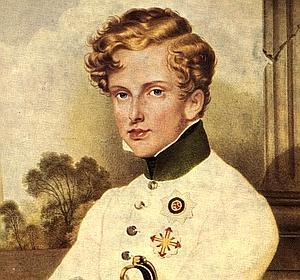 Retrato de Napoleón II por Moritz Daffinger.
