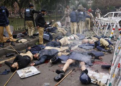 Cristianos pakistaníes asesinados.