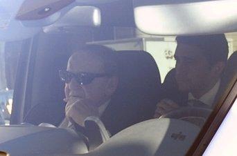 El magnate judío Sheldon Adelson a su llegada al Palau de la Generalitat.
