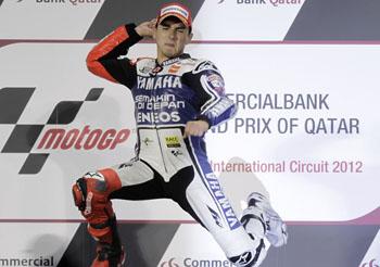 Lorenzo, en lo más alto del podio.