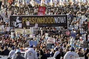 Manifestación contra el aborto en Washington.