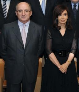 El presidente de Repsol y la presidenta de Argentina.