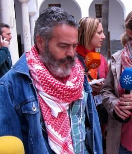 Sánchez Gordillo, parlamentario de IU y alcalde de Marinaleda (Sevilla).