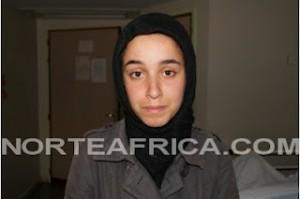 Yamina, la joven supuestamente acosada (foto cedida por norteafrica.com).