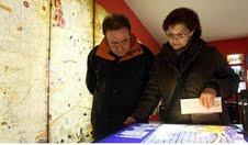 Visitantes en el Museo de História de los Judios en Gerona