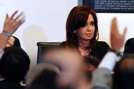 Cristina Fernandez de Kirchner durante el anuncio de la nacionalización de YPF.