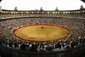 La plaza de toros Monumental de Barcelona.