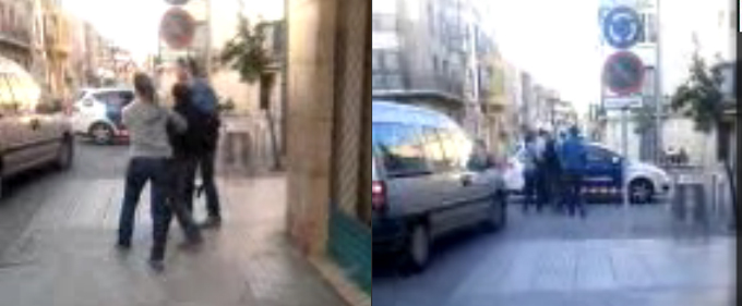 Imágenes de la detención de Rachid Alí.