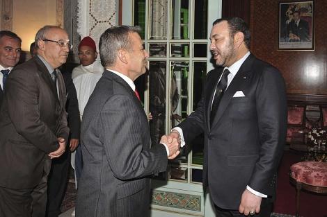 Rivero rinde vasallaje al rey Mohamed VI.