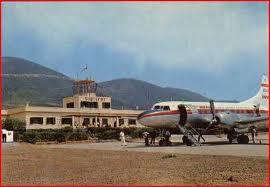 Una de las escasas fotografía en color del aérodromo de Sidi-Ifni.