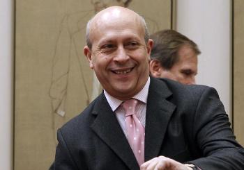 José Ignacio Wert, ministro de Cultura.