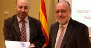 Colom, con el presidente de la UCCIC