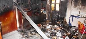 Los daños causados por las llamas han sido cuantiosos.