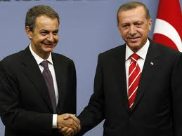 Erdogan (d) y Zapatero (i) compartiendo filias y fobias.