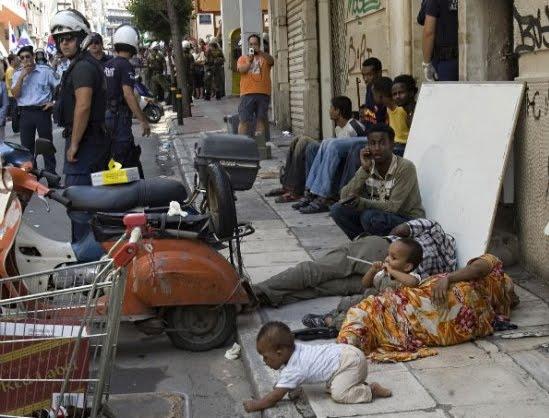 Una calle de Grecia.
