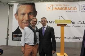 Joan Garriga, junto a Josep Anglada.