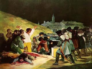'Los fusilamientos de la Moncloa' de Goya, sin duda la imagen icónica del levantamiento popular contra los franceses.