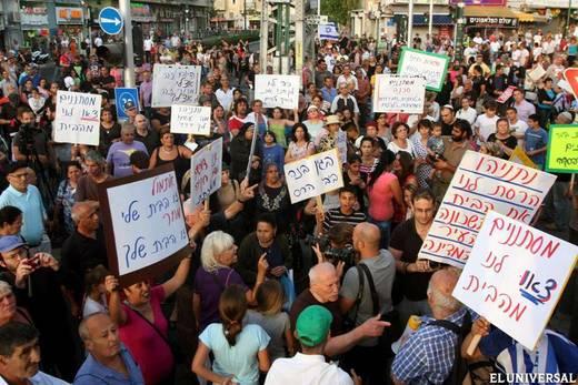Inmigración contra los inmigrantes en Tel Aviv.
