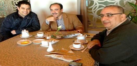 A la derecha de la imagen, Mohamed Khalifa Chaib, tesorero de la Federación Española de Entidades Religiosas Islámicas.