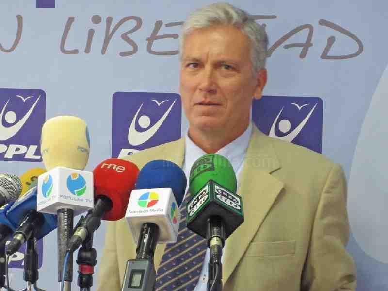 Julio Liarte, durante una rueda informativa.