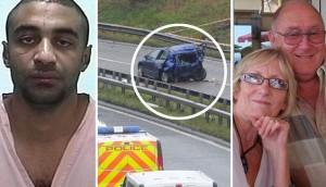 A la izquierda, el moldavo asesino; en el centro, el coche siniestrado; a la derecha, la infortunada pareja inglesa.