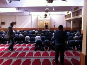 Interior de la mezquita de Tarrasa.