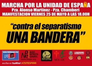Imagen del folleto anunciador de la marcha.