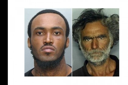 En la imagen, víctima (d) y autor (i) del último ataque canibal en Miami.