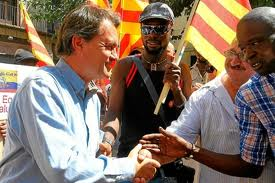 Artur Mas, rodeado de 'nous catalans'.