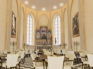 En la imagen, una iglesia neogótica convertida en restaurante de lujo en Bélgica.